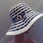 Шляпка из полиэстэра чёрная