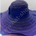 Шляпка хлопко-полиэстэровая чёрная с большими полями с фиксатором