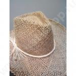 Шляпа из натуральной соломки, цвет сафари