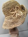 Шляпка из натуральной соломки натурального цвета