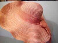 Шляпка с большими полями из хлопка оранжевая